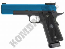 WE P14 Para 1911 Airsoft Pistol CO2 Gas Blowback BB Gun Black & 2 Tone Metal